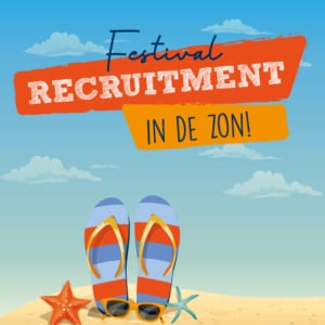 Festival recruitment in de zon